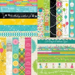 Picture of Party Brights by Katie Pertiet  Border Strips - Set 12